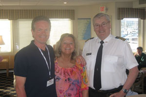 Cindy and Don with the Captain