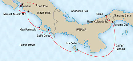 Costa Rica  the Panama Canal  USA River Cruises Official Site