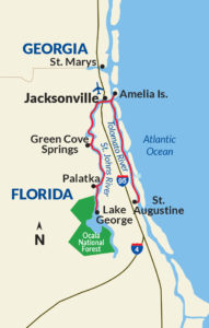 The great rivers of a Florida cruise map