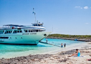 Grande Caribe in Bahamas - small ships let you get this close to shore!
