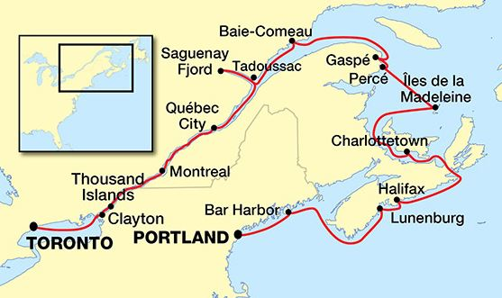 Montreal Quebec Portland Maine Cruise USA River Cruises - St lawrence river on us map