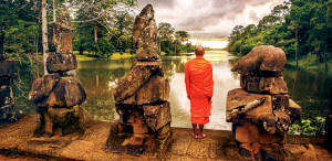 Mekong monk - receive a Buddhist blessing on your SE Asia cruise
