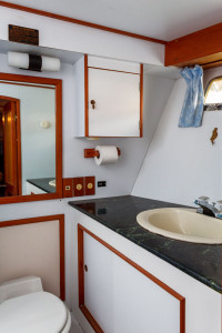 One of the Standard Stateroom Bathrooms