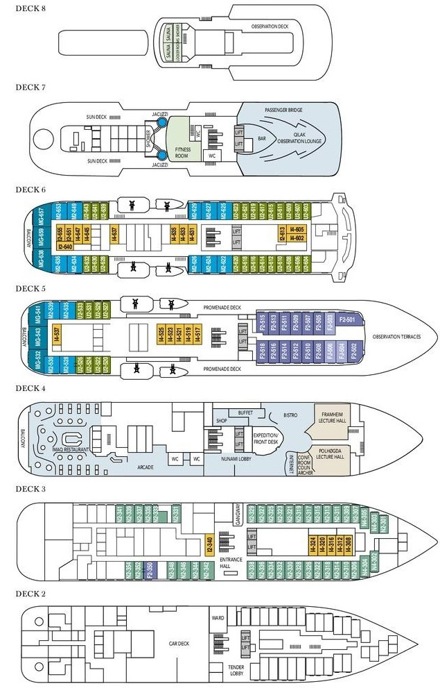 Fram Deck Plan