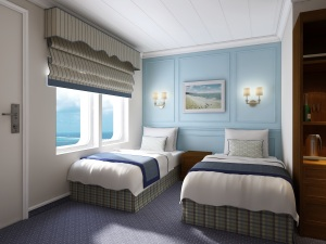Category AA stateroom aboard the M.S. Saint Laurent