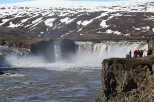 Godafoss Waterfalls in Akureyri