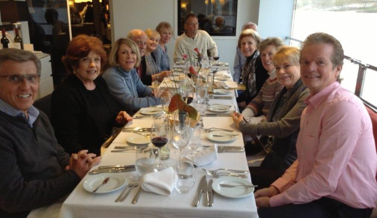 Al Fresca diner on the Ama Vida with guests