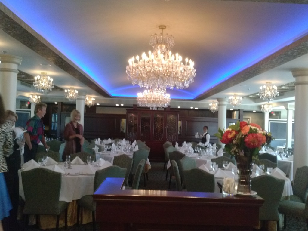 The Astoria Dining Room, set for our lunch.