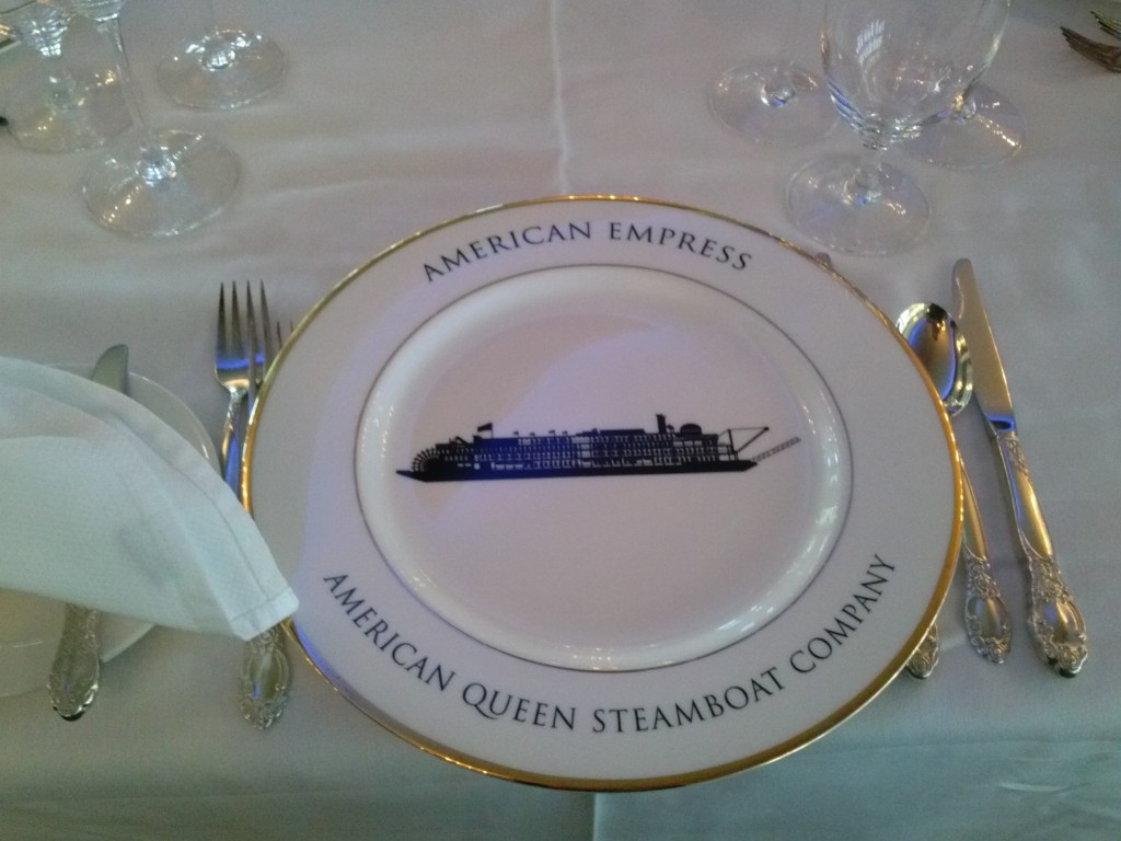 The ship is on the plate!
