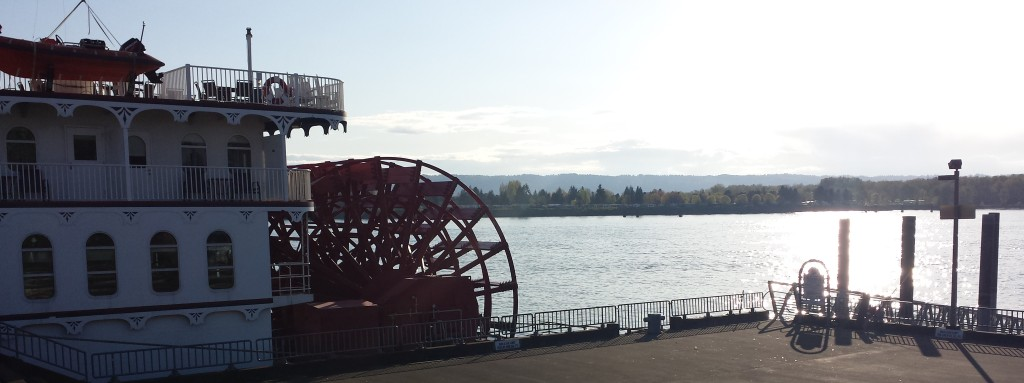 American Empress paddlewheel, docked in Vancouver, WA