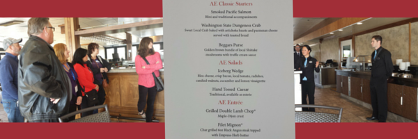 American Empress River Grill with sample menu