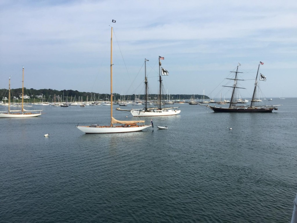 The view as the ship arrived in Martha's Vineyard