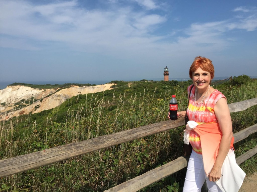 Gay head cliffs and lighthouse in aquinnah on martha's vineyard