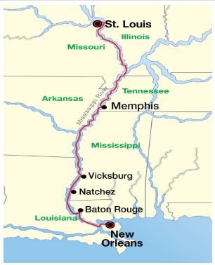St. Louis to New Orleans
