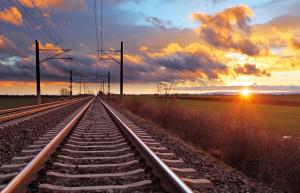 train-tracks-sunset