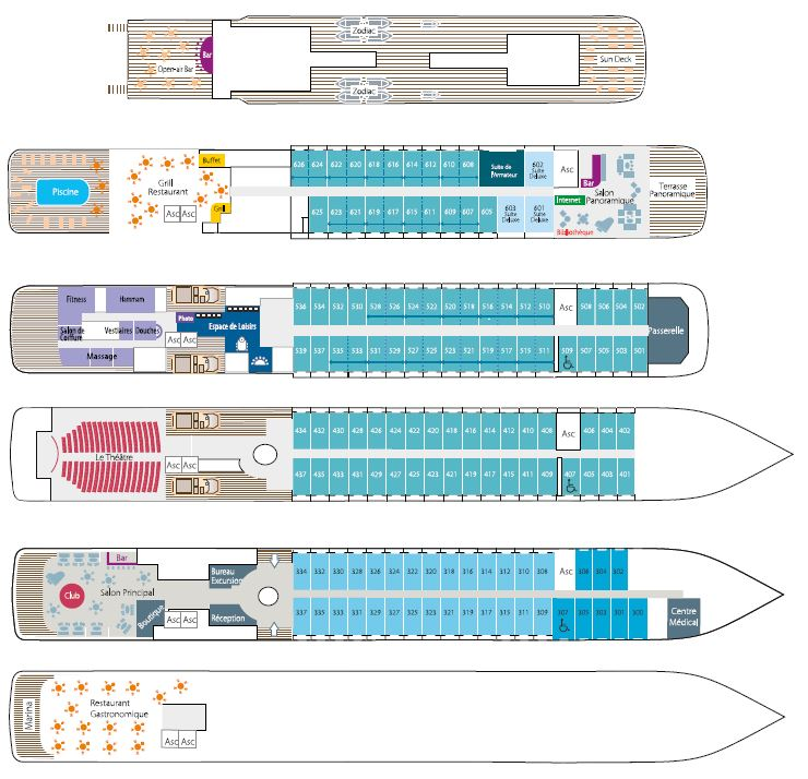 Deck Plan - Le Soleal