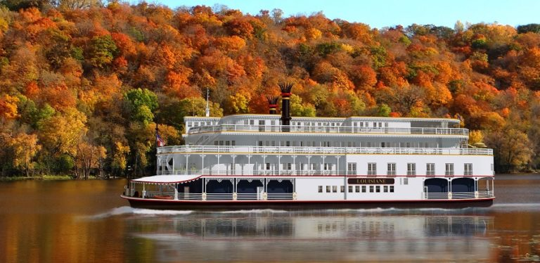 Rendering of the Louisiane, cruising the Mississippi River beginning August 2016