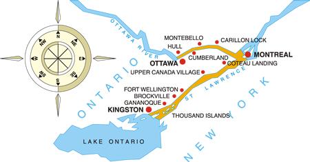 Canada's Celebration of Spring Cruise Map