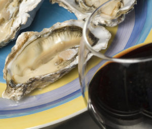 A plate of fresh oysters from the Pacific Northwest