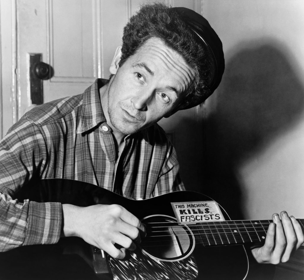 Woody Guthrie, a famous musician
