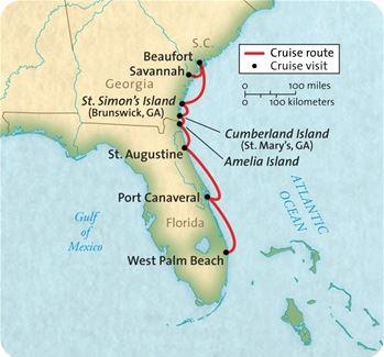 West Palm Beach to Savannah 2018 Map
