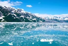 A picture of glaciers in Alaska