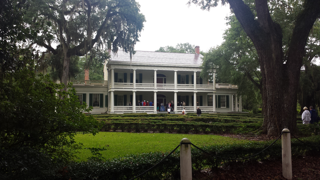 View of a New Orleans home during our roundtrip river cruise.