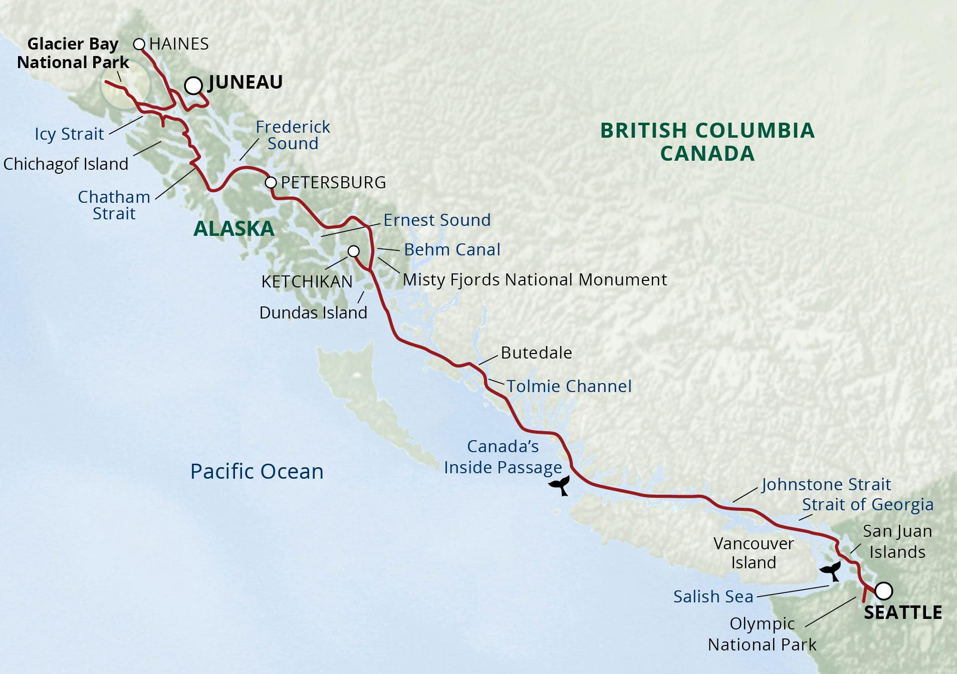 Alaska S Inside Passage Amp San Juans Cruise Usa River Cruises Official Site