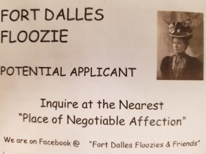 Fort Dalles Floozies Applicant Card The Dalles Oregon