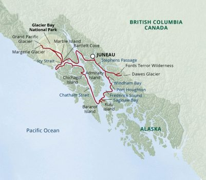Alaska Adventure Cruise Map