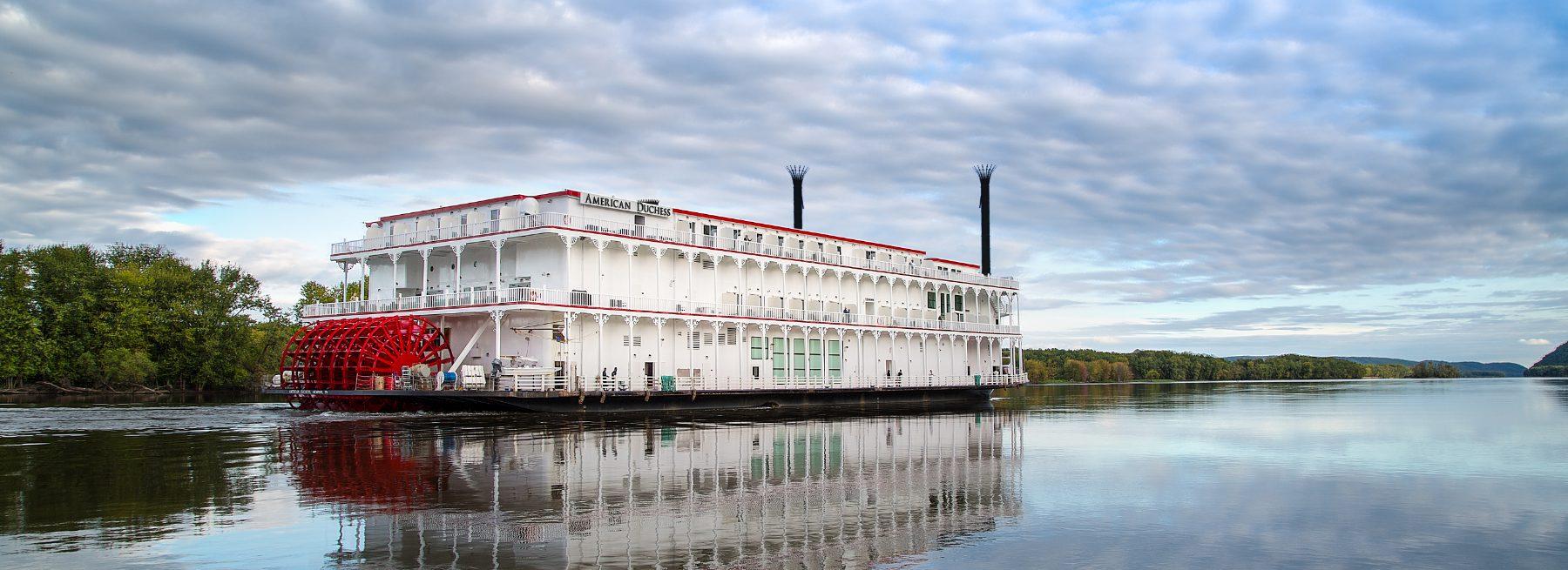 American Duchess sternwheeler boat on a river