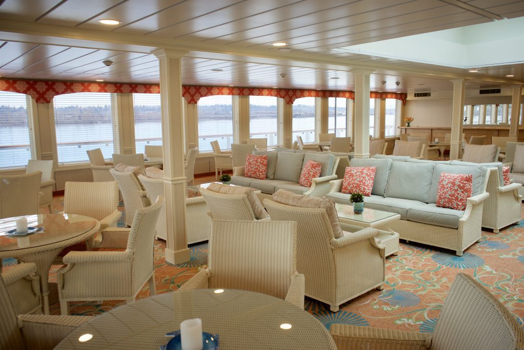 One of four onboard lounges