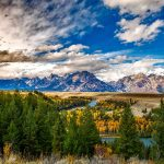 Grand Teton mountains landscape in fall