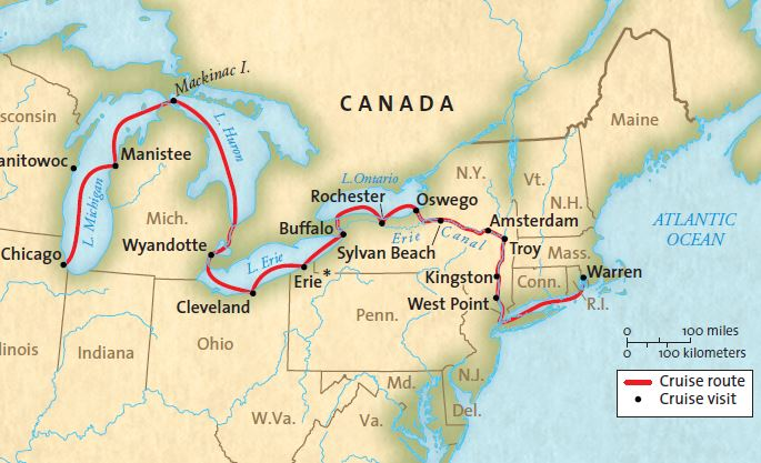 Great American Waterways: Chicago to NYC River Cruise