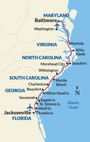 Intracoastal Waterway Cruises map