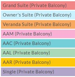American Jazz Ship cabin categories
