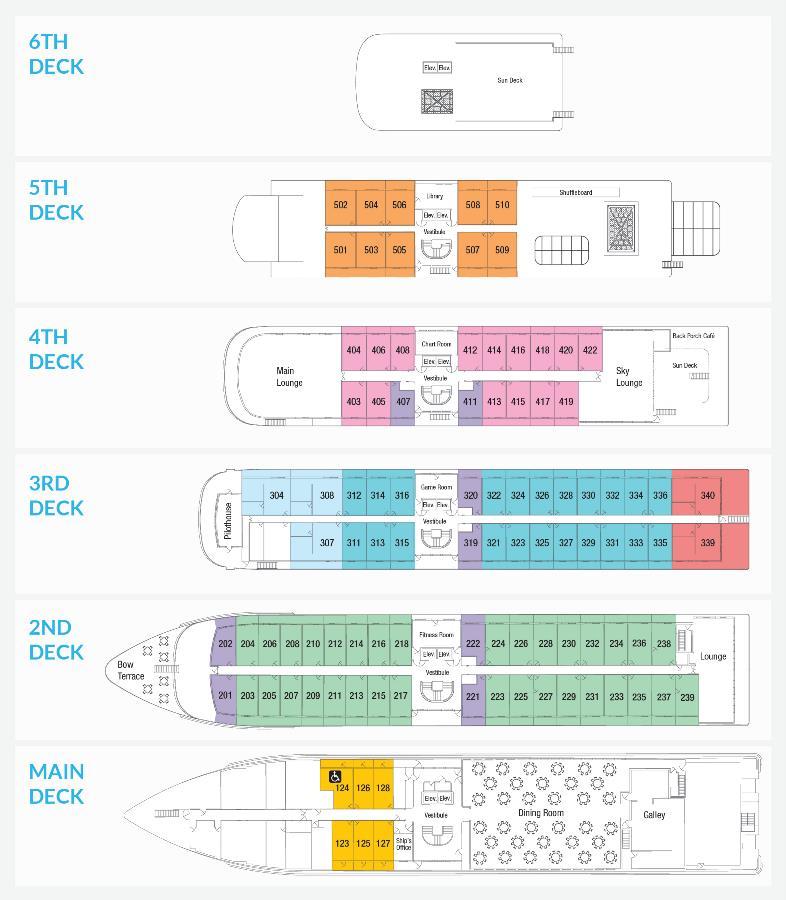 American Jazz Ship Deck plan