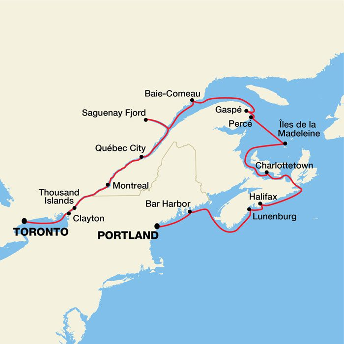 Canadian Maritimes & St. Lawrence Seaway River Cruise