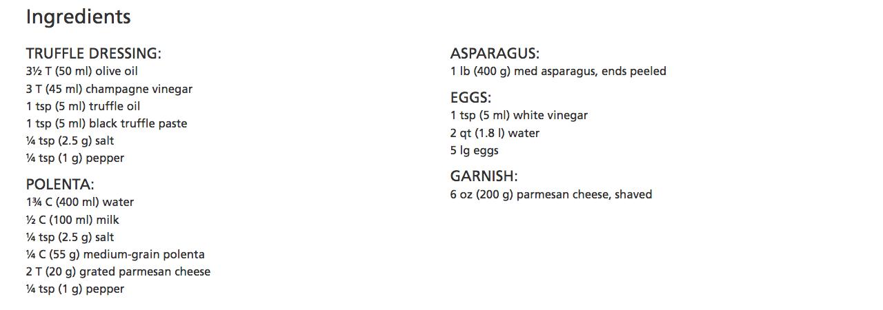 vikiing recipe polenta