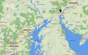 map of baltimore wilmington philadelphia