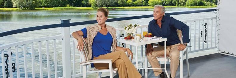Couple enjoying brunch on America Cruise Ship