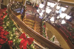 American Queen decor balcony staircase family holiday travel