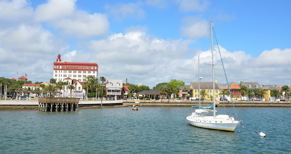 The water front in St Augustine Florida