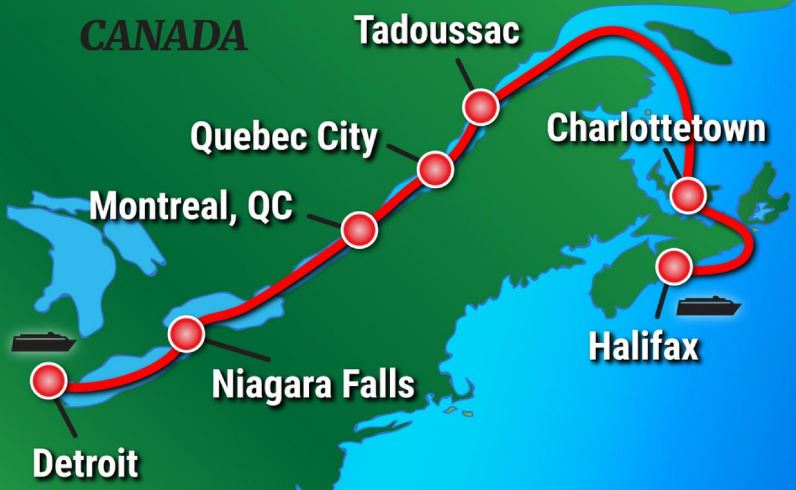 French Canadian Maritimes & St. Lawrence Seaway River Cruise